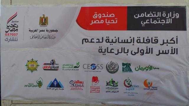 أسوان: إستقبال أكبر قافلة إنسانية لصندوق تحيا مصر .. بالصور