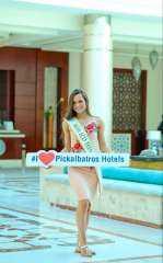 ملكة جمال امريكا تصل الغردقة وتوجه رساله بدعم السياحة المصرية