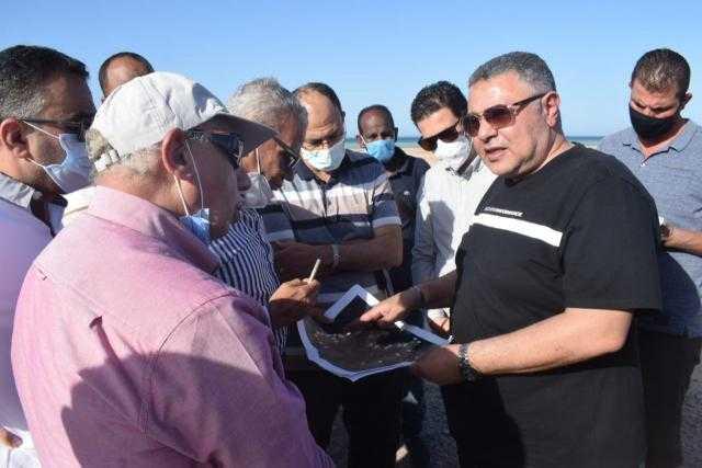 """محافظ البحر الأحمر يتفقد """"ريفيرا سهل حشيش"""" لإعداد دراسة متكاملة للمشروع لعرضها على رئيس الوزراء"""