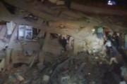 مصدر أمني: 20 شخصًا مازالوا تحت أنقاض عقار منيا القمح المنهار