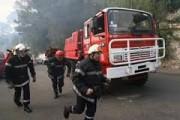 اندلاع حريق هائل بمخزن في عابدين