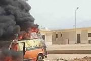 مجهولين يستهدفون سيارة إسعاف بشمال سيناء