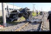 شلل مروري بطريق إسكندرية الزراعي نتيجة اصطدام قطار بسيارة نقل بمحطة