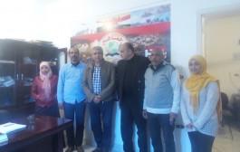 بالصور زيارة اللواء طارق مهدي رئيس المنتدى الإعلامي لموقع (gamahir.com)