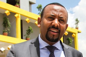 A picture taken on September 26, 2017, shows Abiy Ahmed, Chairman of Oromo Peoples' Democratic Organization (OPDO).  Ethiopia's ruling coalition on March 27 elected as leader Abiy Ahmed, from the country's largest ethnic group the Oromo, paving the way for him to become prime minister, state media reported. / AFP PHOTO / Samuel Gebru