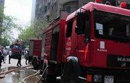 أخماد حريق سيارة بمنطقة كفر الجزار فى بنها