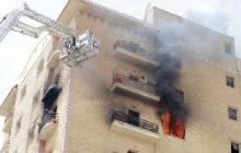 أخماد حريق داخل شقة فى الزاوية الحمراء دون إصابات
